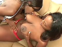 Cute teen black lesbians love each other