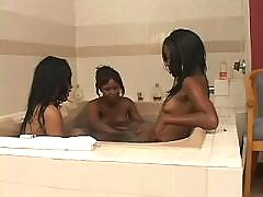 Teenage black lesbians play with sextoys